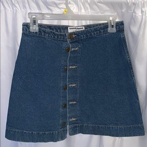 American Apparel Classic A line denim skirt